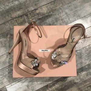 Miu Miue Blush Nude heels